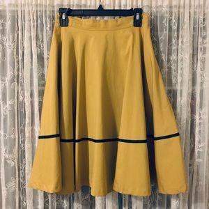Knee Length Yellow Skirt